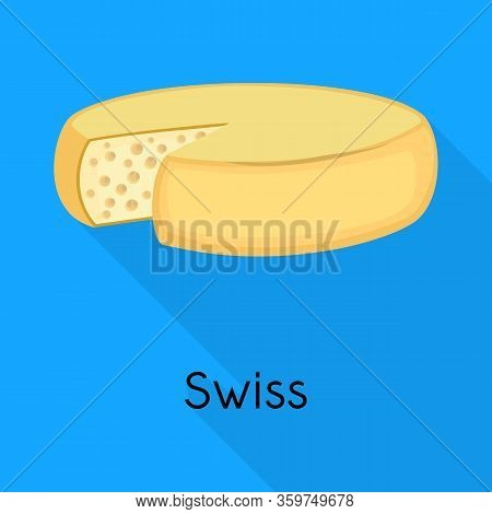 Vector Design Of Chees And Swiss Sign. Web Element Of Chees And Block Stock Vector Illustration.