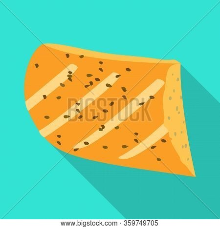 Vector Illustration Of Bun And Sesame Sign. Graphic Of Bun And Flapjacks Stock Symbol For Web.