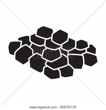 Chopped Garlic Vector Icon.black Vector Icon Isolated On White Background Garlic Chopped .