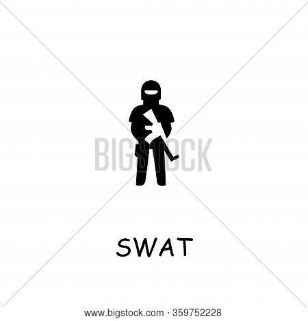 Swat Flat Vector Icon. Hand Drawn Style Design Illustrations.