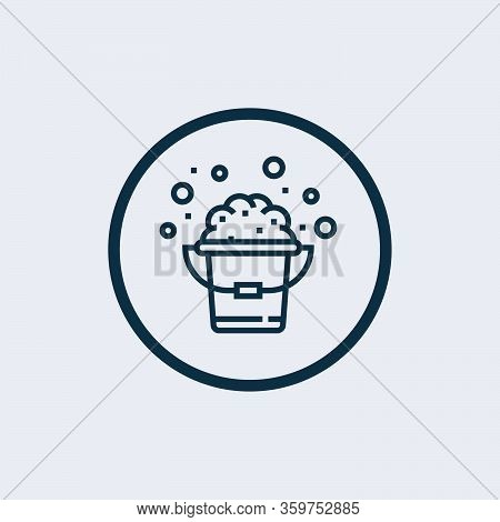 Bucket Icon Isolated On White Background From Hygiene Collection. Bucket Icon Trendy And Modern Buck