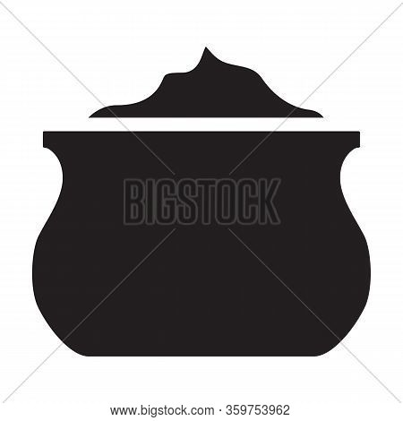 Mayo Vector Icon.black Vector Icon Isolated On White Background Mayo.