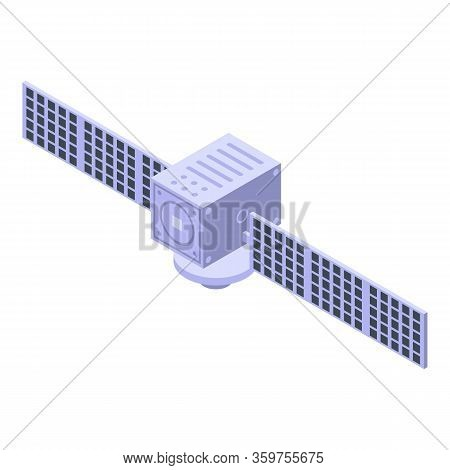Orbit Satellite Icon. Isometric Of Orbit Satellite Vector Icon For Web Design Isolated On White Back