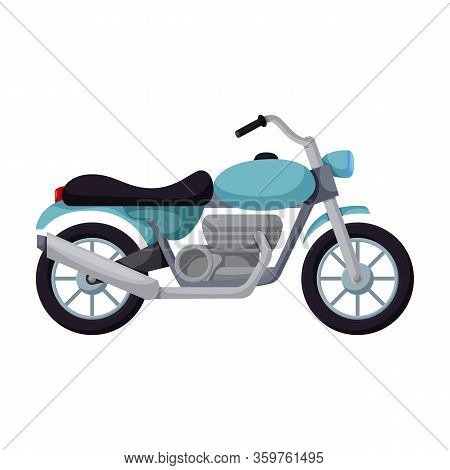 Motorcycle Vector Icon.cartoon Vector Icon Isolated On White Background Motorcycle.