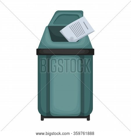 Trashcan Vector Icon.cartoon Vector Icon Isolated On White Background Trashcan.