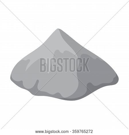 Pile Cement Vector Icon.cartoon Vector Icon Isolated On White Background Pile Cement.