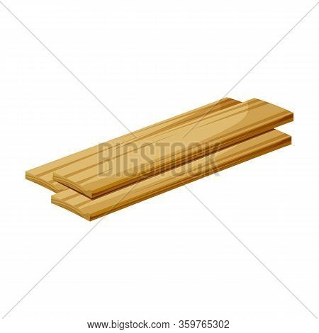 Wooden Piece Vector Icon.cartoon Vector Icon Isolated On White Background Wooden Piece.
