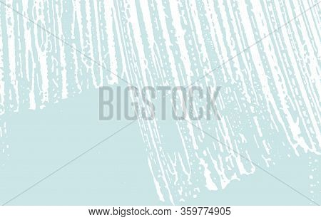 Grunge Texture. Distress Blue Rough Trace. Dazzling Background. Noise Dirty Grunge Texture. Lively A