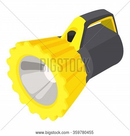 Underwater Flashlight Icon. Isometric Of Underwater Flashlight Vector Icon For Web Design Isolated O