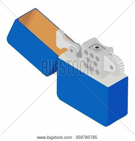 Gasoline Lighter Icon. Isometric Of Gasoline Lighter Vector Icon For Web Design Isolated On White Ba