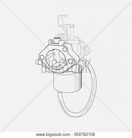 Carburetor Icon Line Element. Vector Illustration Of Carburetor Icon Line Isolated On Clean Backgrou