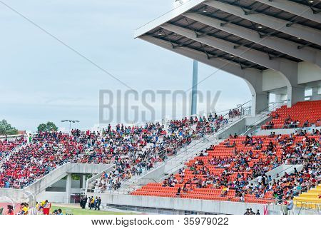 Chiang Mai,Thailand - July 28 : Panoramic view of Chiang Mai stadium before the Thai  Premier League