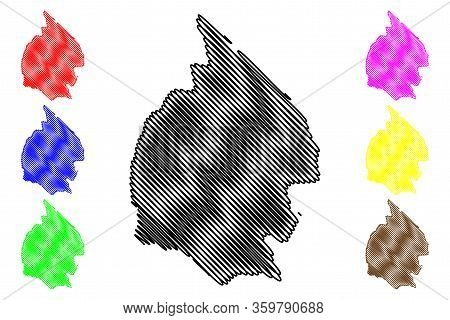 Mahaica-berbice Region (administrative Regions Of Guyana, Co-operative Republic Of Guyana) Map Vecto