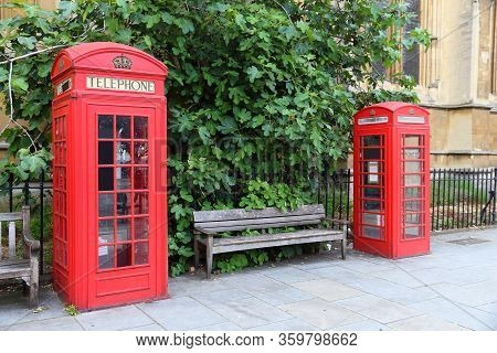 London Red Telephone. English Symbol - Phone Booths.