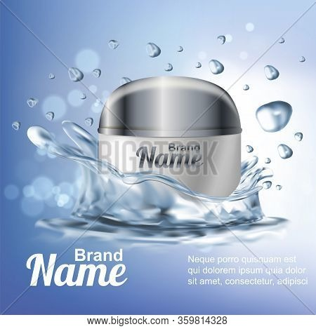 Realistic Detailed 3d Hydration Cosmetic Cream Ads Flyer Concept Banner. Vector Illustration Of Beau