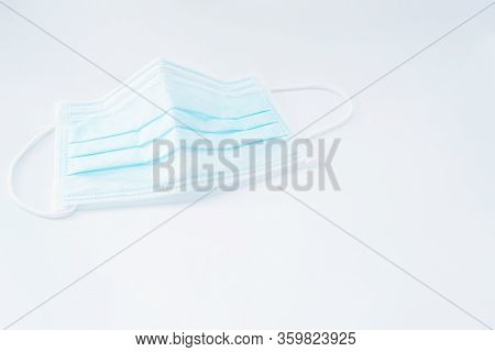 Doctor Mask And Corona Virus Protection Isolated On A White Background