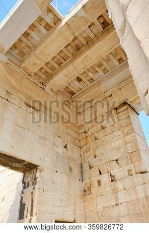 Propylaea. The Imposing Entrance To The Acropolis.