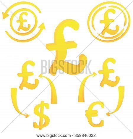 Pound Uk Currency Symbol Icon Of England Vector Illustration On A White Background