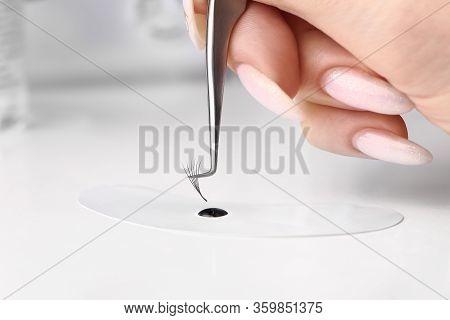 Eyelash Extension Tools. Fake Eyelashes. Accessories For Eyelash Extensions. Drop Of Eyelash Glue An