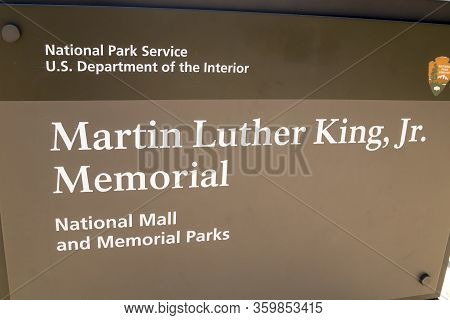 Martin Luther King Jr. Memorial Is Located In West Potomac Park Washington Dc