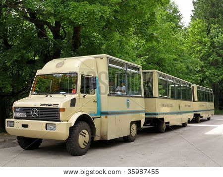 Tour Bus At Plitvice National Park, Croatia