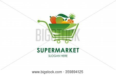 Supermarket Logo Template Design Vector, Market Logo