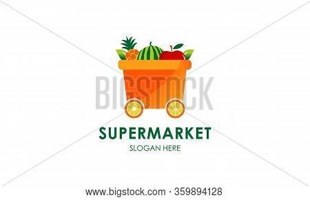 Supermarket Logo Template Design Vector, Market Logo