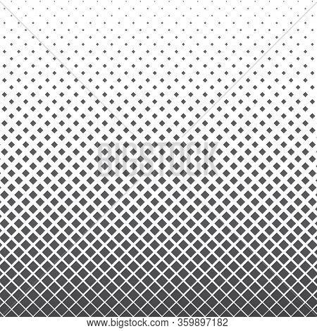 Vertical Gradient Halftone Geometric Diamond Shape Background. Pop Art Template, Texture. Vector Ill