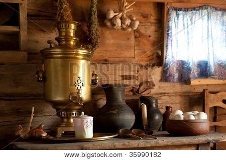 Country Still Life with a Samovar.