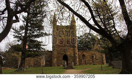 Port Arthur Penal Colony Historic Site, Church Ruins Tasmania Australia
