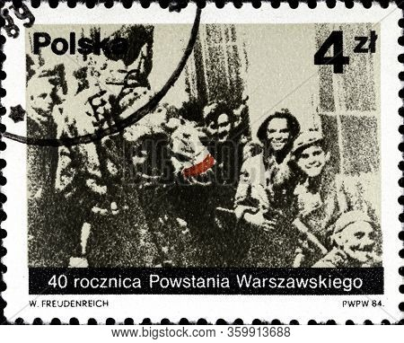02 11 2020 Divnoe Stavropol Territory Russia Postage Stamp Poland 1984 The 40th Anniversary Of The W