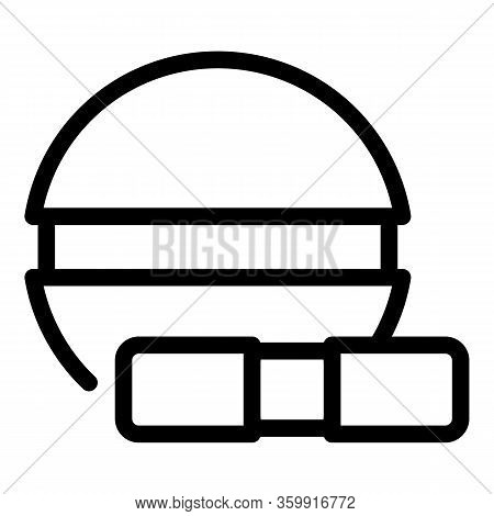 Painkiller Pill Icon. Outline Painkiller Pill Vector Icon For Web Design Isolated On White Backgroun
