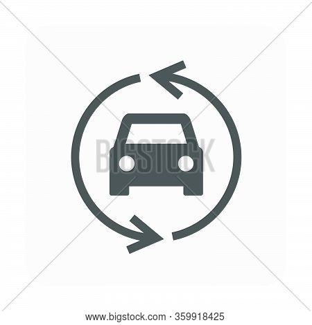 Used Car And Dealership Icon For Used Car Business Design.