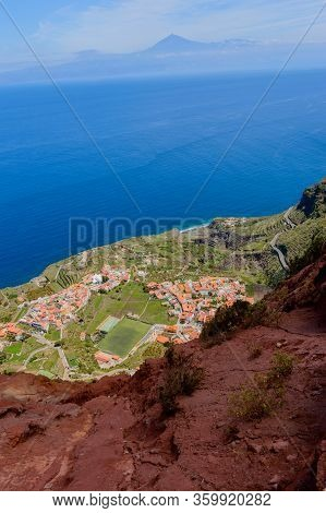 Views From The Cliff Of The Mirador De Abrante On The Island Of La Gomera. April 15, 2019. La Gomera