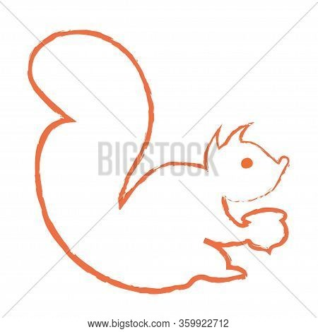 Squirrel Icon. Squirrel Logo Template. Linear Vector Illustration