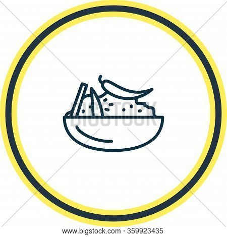 Vector Illustration Of Moroccan Couscous Icon Line. Beautiful International Food Element Also Can Be