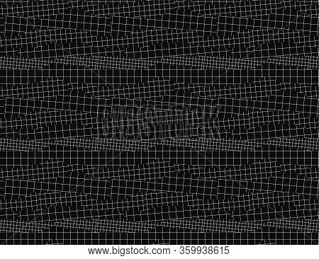 Black Snd White Abstract Net Seamless Pattern