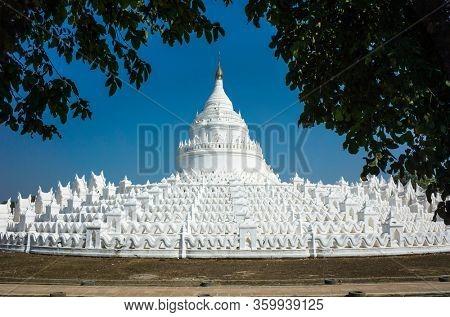 White pagoda of Hsinbyume - Mya Thein Dan pagoda in Mingun, Myanmar