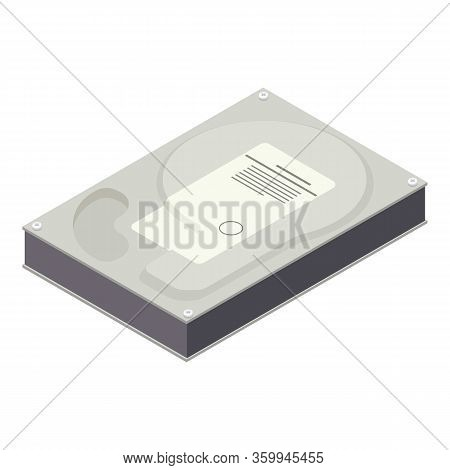 Hard Disk Icon. Isometric Of Hard Disk Vector Icon For Web Design Isolated On White Background