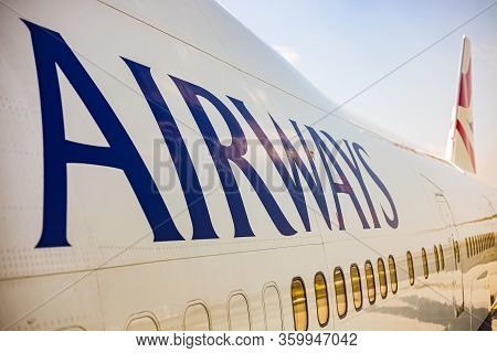 Johannesburg, South Africa - May 08, 2012: British Airways Boeing 747-400 Parked On The Tarmac At An