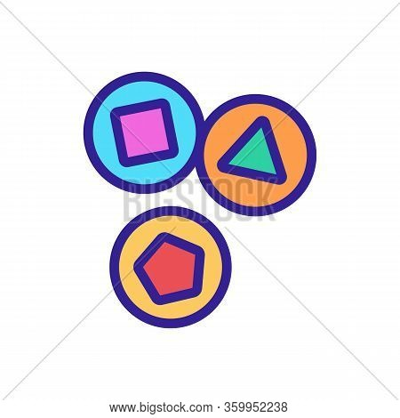 Lottery Draw Icon Vector. Lottery Draw Sign. Color Contour Symbol Illustration