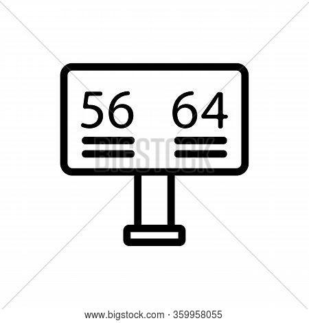 Scoreboard Cricket Icon Vector. Scoreboard Cricket Sign. Isolated Contour Symbol Illustration