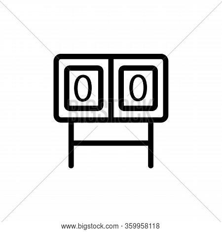 Scoreboard Winner Icon Vector. Scoreboard Winner Sign. Isolated Contour Symbol Illustration