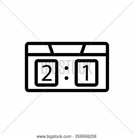 The Game Score Table Icon Vector. The Game Score Table Sign. Isolated Contour Symbol Illustration