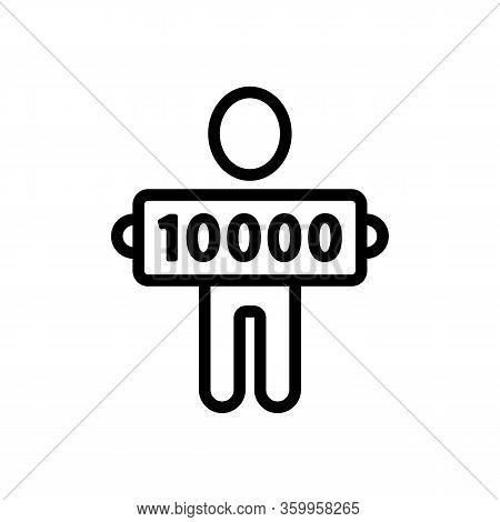 Bingo Lottery Winner Icon Vector. Bingo Lottery Winner Sign. Isolated Contour Symbol Illustration