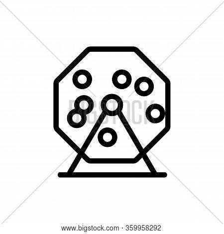 Bingo Lottery Icon Vector. Bingo Lottery Sign. Isolated Contour Symbol Illustration