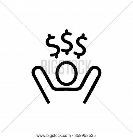 Lottery Winner Icon Vector. Lottery Winner Sign. Isolated Contour Symbol Illustration
