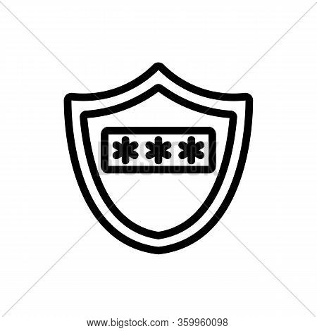 Password Protection Icon Vector. Password Protection Sign. Isolated Contour Symbol Illustration