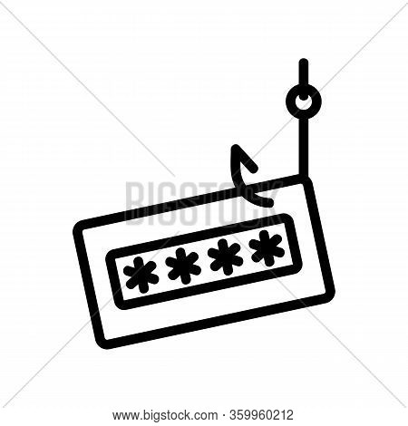 Password Phishing Icon Vector. Password Phishing Sign. Isolated Contour Symbol Illustration