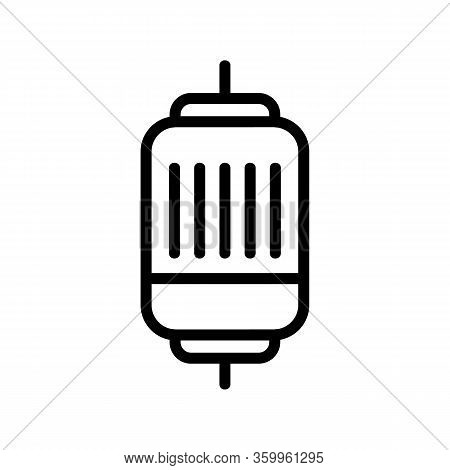 Electric Motor Quick Icon Vector. Electric Motor Quick Sign. Isolated Contour Symbol Illustration